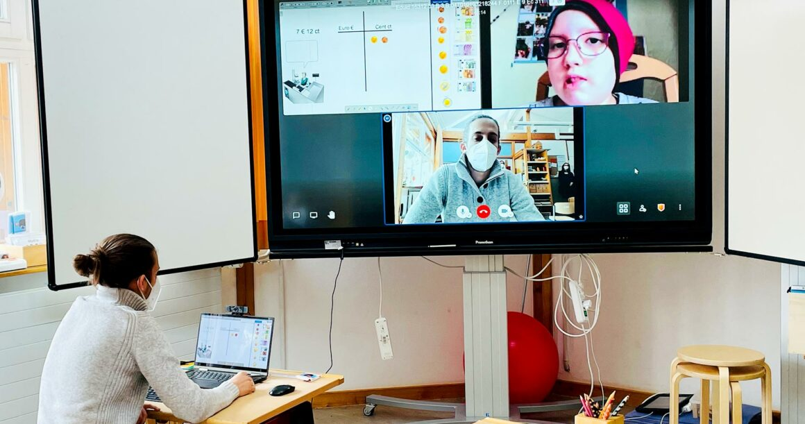 Digitales Smartboard bringt Klassenzimmer ins Krankenzimmer